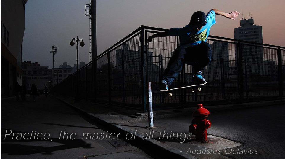 Skateboard street jump